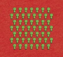 Minecraft Creepers Pattern Tri-blend T-Shirt