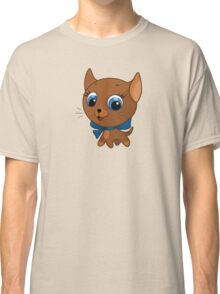 Cute cat vector illustration Classic T-Shirt