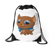 Cute cat vector illustration Drawstring Bag