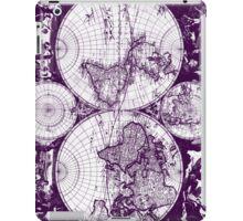 Vintage Map of The World (1685) Purple & White  iPad Case/Skin