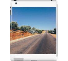 Empty Road in Moroccan Olive Tree Territory iPad Case/Skin