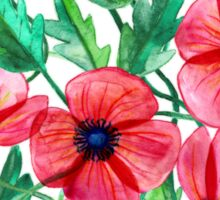 Plenty of Poppies – white Sticker