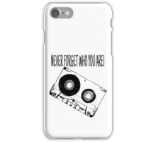 Tape-illustration-Never Forget Who You Are iPhone Case/Skin