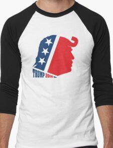 Donald Trump and Republican Elephant Logo Men's Baseball ¾ T-Shirt
