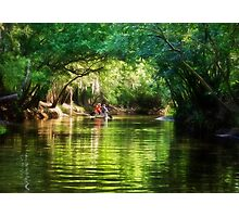 Paddling Down the River - Florida Photographic Print