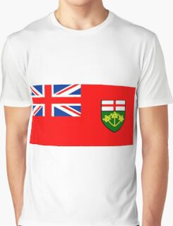 Flag of Ontario, Canada. Graphic T-Shirt