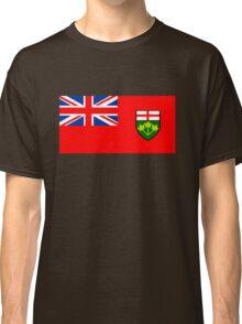 Flag of Ontario, Canada. Classic T-Shirt