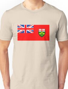 Flag of Ontario, Canada. Unisex T-Shirt