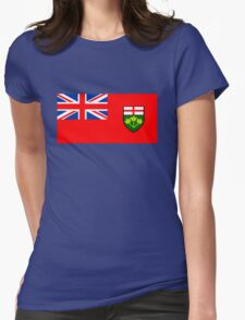 Flag of Ontario, Canada. Womens Fitted T-Shirt