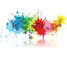 Music Colors Photographic Print