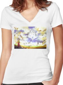 Castle In the Clouds Women's Fitted V-Neck T-Shirt