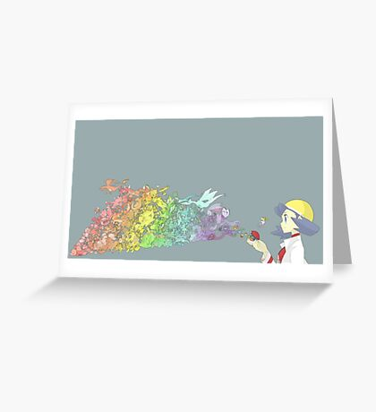 251 Pokemon Greeting Card