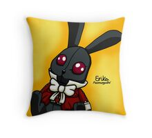 Chibi BlackRabbit (Golden background version) Throw Pillow