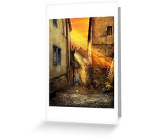 City - Germany - Alley - The farmers wife 1904 Greeting Card