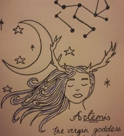 Artemis - Virgin Goddess of the Hunt and the Moon Sticker
