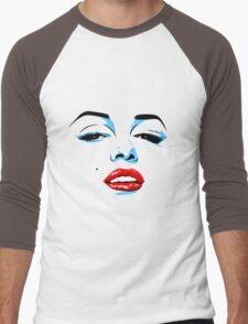 Marilyn Monroe inspired pop art Men's Baseball ¾ T-Shirt