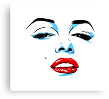 Marilyn Monroe inspired pop art Canvas Print