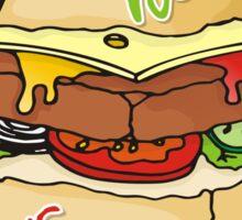 Healthy eating burger pyramid Sticker