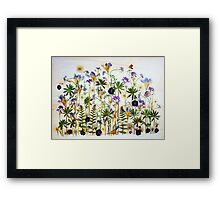 Floral garden party Framed Print