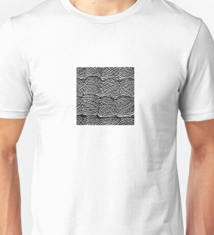 Black and White Abstract Digital Skeins of Yarn Design Unisex T-Shirt