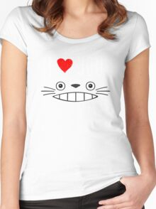 Totoro - I love you Women's Fitted Scoop T-Shirt
