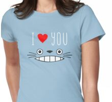 Totoro - I love you Womens Fitted T-Shirt