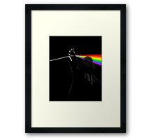 Darth Side of the Moon Framed Print