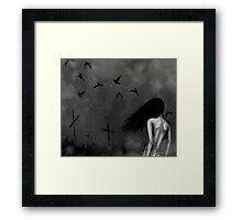 Death's Daughter Framed Print