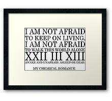 Famous Last Words lyrics Framed Print