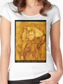 Major General Jackson And His Horse, Sepia Women's Fitted Scoop T-Shirt