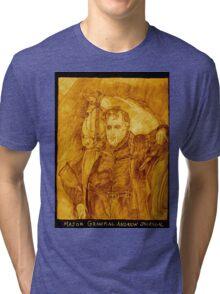 Major General Jackson And His Horse, Sepia Tri-blend T-Shirt