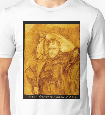 Major General Jackson And His Horse, Sepia Unisex T-Shirt