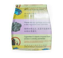 Laminated Building RULES List Chungking Mansions Hong Kong Mini Skirt