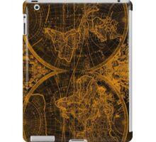 World Map (1691) Black & Orange iPad Case/Skin