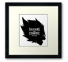 Saiyans are coming Framed Print