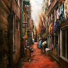 City - Germany - Alley - The other half 1904 by Mike  Savad