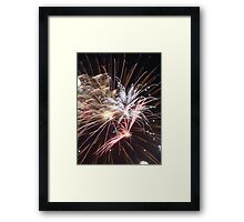 Fireworks abstract 30 2015 Framed Print