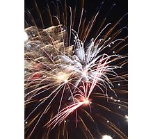 Fireworks abstract 30 2015 Photographic Print