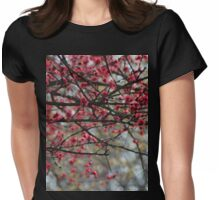 Spring Has Sprung Photographic Watercolor Womens Fitted T-Shirt
