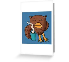 Coffee Night Owl Greeting Card