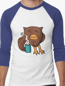 Coffee Night Owl Men's Baseball ¾ T-Shirt