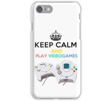 Keep Calm and play video games iPhone Case/Skin