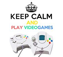 Keep Calm and play video games Photographic Print