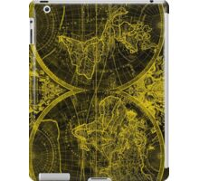 World Map (1691) Black & Yellow iPad Case/Skin