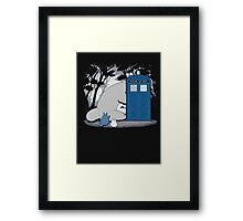lazy totoro police box Framed Print