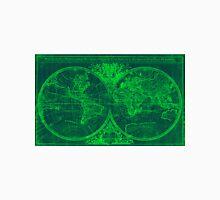World Map (1691) Blue & Green Unisex T-Shirt