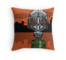Gas Mask Throw Pillow