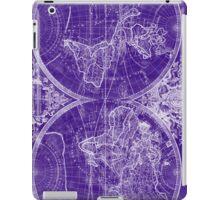 World Map (1691) Purple & White iPad Case/Skin
