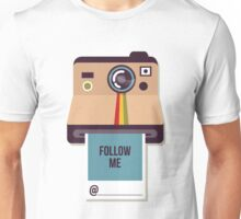 Follow Me on Instagram Self Promotion Unisex T-Shirt