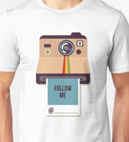 Follow Me on Instagram Self Promotion Unisex T-Shirt